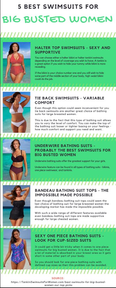 Best Swimsuits for Big Busted Women