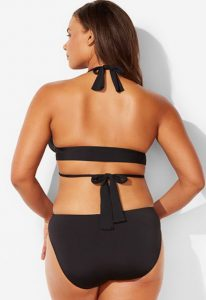 Wrap around swimsuit top