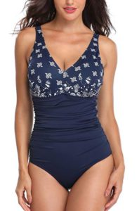 One Piece V Neck Swimsuits